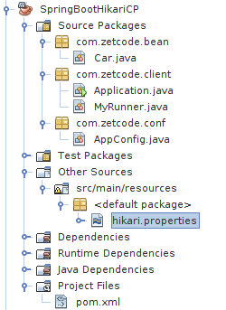 NetBeans project structure