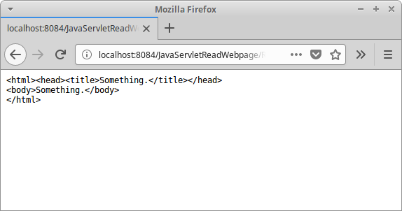 Java Servlet read web page - learn how to read a web page in Java
