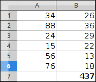 Calculating the sum of values