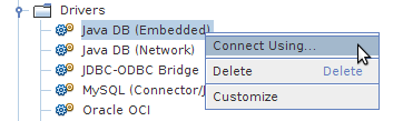 Creating embedded connection