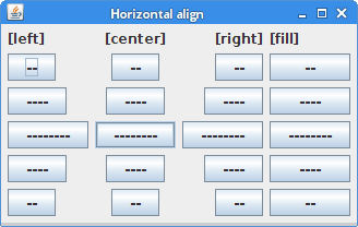 MigLayout horizontal alignment