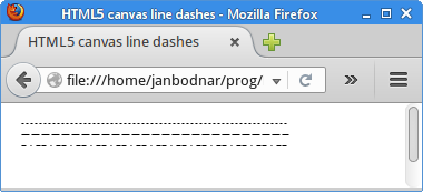 Line dashes