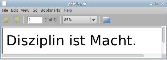 PDF file in Evince
