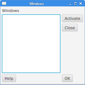Windows layout created with a MigPane