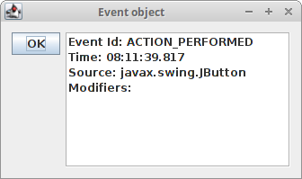 Java Swing events - event handling in Java Swing