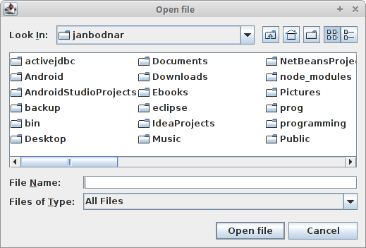Java Swing Dialogs