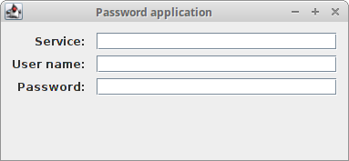 GroupLayout password example