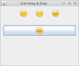 Icon drag & drop example