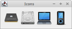 Displaying icons