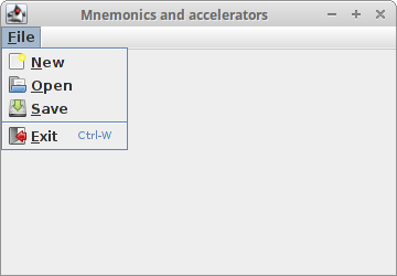 Mnemonics and accelerators