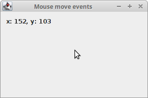 Mouse move events