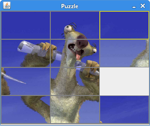 The Puzzle game in Java Swing