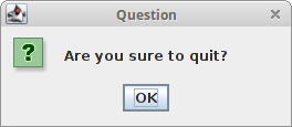 Question message dialog