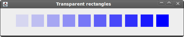 Transparent rectangles