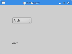 QComboBox