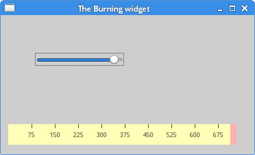 The Burning widget