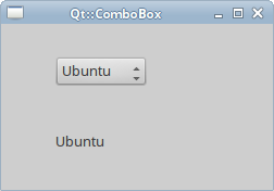 Qt::ComboBox widget