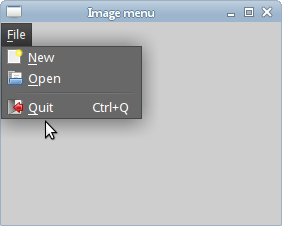 Images, shortcut and a separator