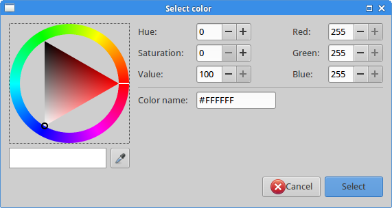 Gtk::ColorSelectionDialog