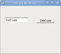 Drag & drop of text