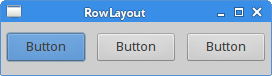 RowLayout manager
