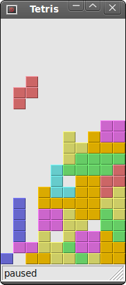 The Tetris game in wxWidgets
