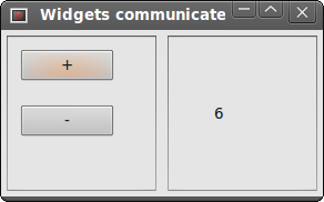 Widgets communicate