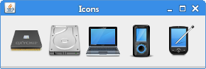 Icons in labels