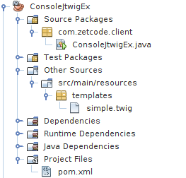 Java console project structure in NetBeans