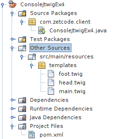 Java console project structure in NetBeans 2