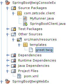 Spring Boot project structure in NetBeans