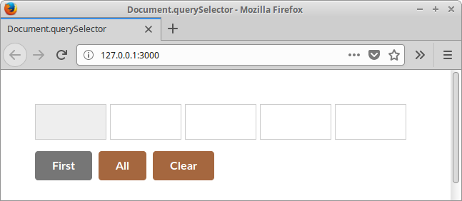 Selecting elements with Document.querySelector