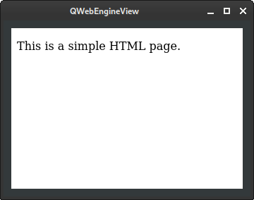 Simple QWebEngineView example